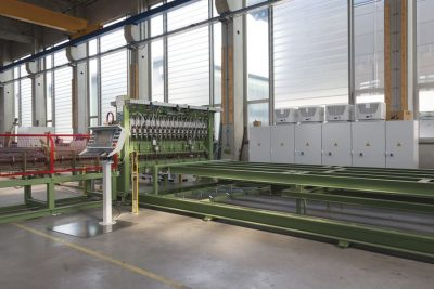 innovative welding machine from mbk in production hall