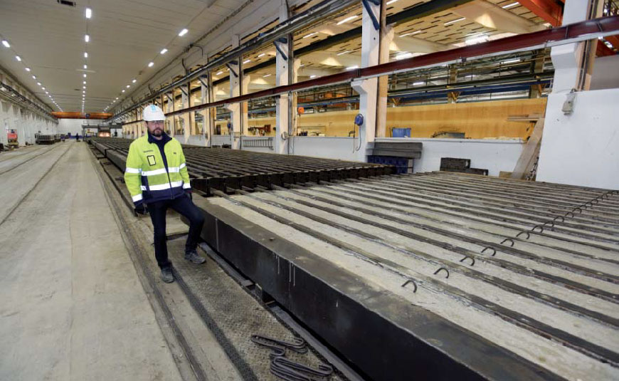 warehouse for welded cages in skanska