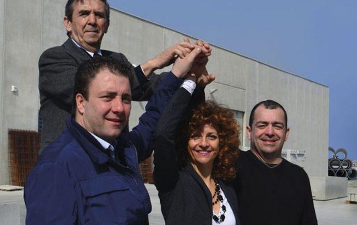 Korbschweißmaschinen bei CMC in Italien Gruppenfoto